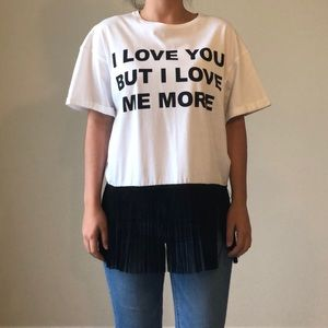 Jijil I Love You But I Love Me More Fringe T-Shirt